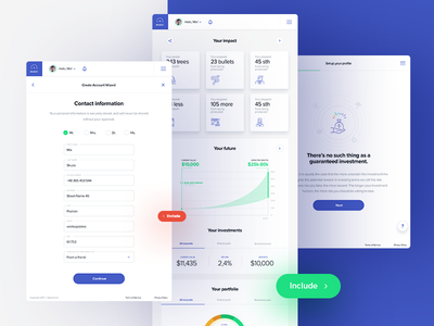 OpenInvest part V iphone x color wheel blue tonik mobile app app invest investing