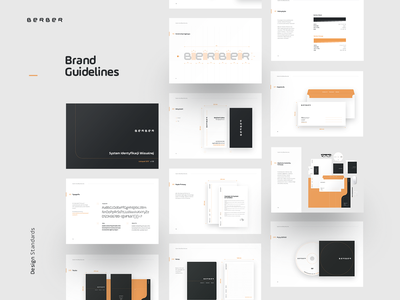 Berber Branding black orange brand guidelines branding logo agency
