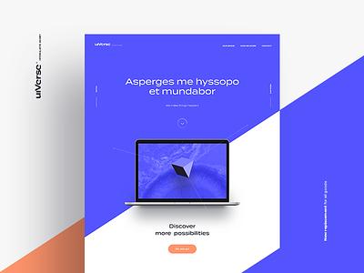 uiTest mbp test orange blue landing page website logo agency