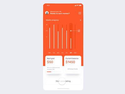 Data Annotation Platform App Animation II iphone x application machine learning netguru minimal orange motion design motion prototype web design typography product design print mobile illustration branding animation
