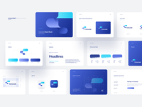 CBrand 2019 logo brand book brand manual blue shadows netguru cards rounded flat simple minimal minimalism design typography vector ui