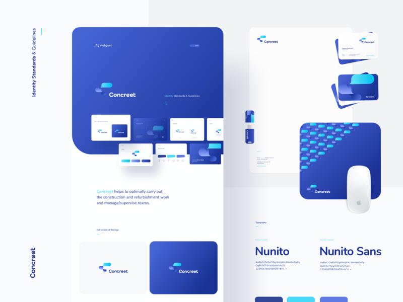 CBrand 2019 - Case Study behance case sudy case study behance ui vector typography design minimalism minimal simple flat rounded cards netguru shadows blue manual brand brand book logo