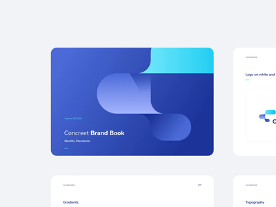 CBrand 2019 - Logo Animation animation animated logo manual behance case study vector typography rounded modern blue kosma netguru branding brand brand book logo logo animation