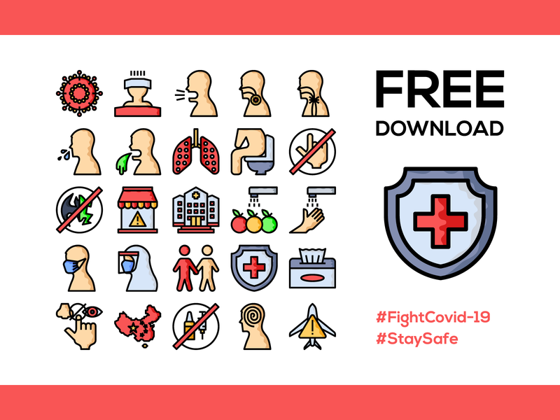 Fight Covid-19 Icon Pack