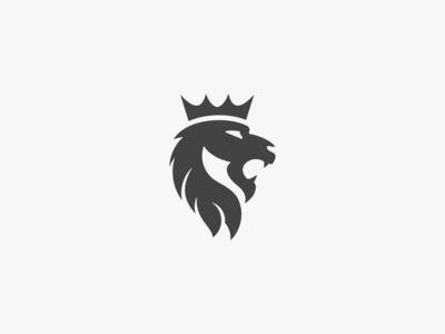 Kings lion logo vector animation icon type design