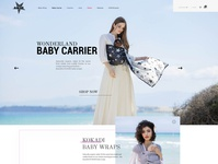 Baby Carrier - Landing Page creative web design illustration site page online website template design web