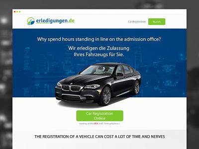 Car Registration Landing Page germany company registration car page landing page template design web