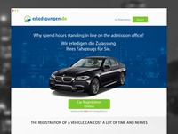 Car Registration Landing Page