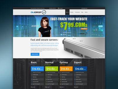 Web hosting template .psd cheap $ for sell template web hosting