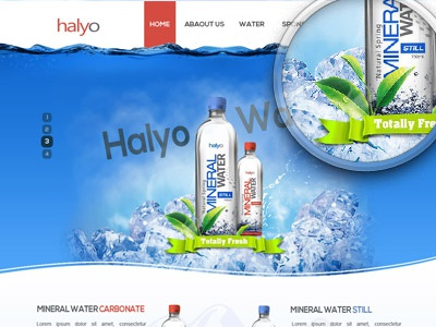 Mineral water mineral water web site design green fresh