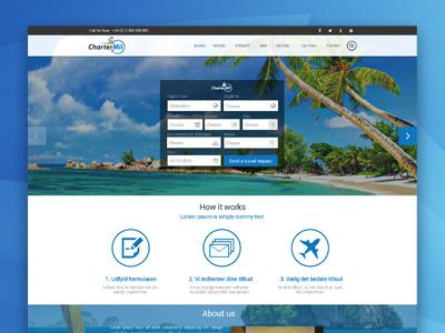 Web Design For Travel Agency  website web design travel agency photoshop cs5 blue charter