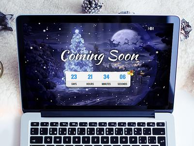 Christmas Coming Soon Template xmas winter snow season santa claus responsive new year html5 holidays gift coming soon christmas