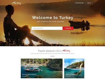 Turkey Tourism Agency theme creative web design site page online website ui template design web