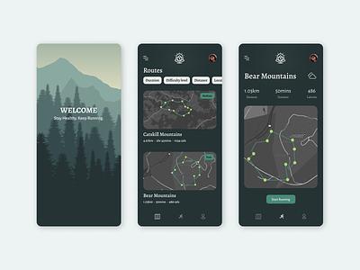 Running app uxuidesign mobile ui running app location tracker