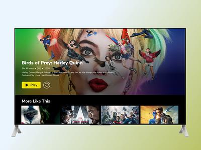 TV App tv design uxuidesign tv app