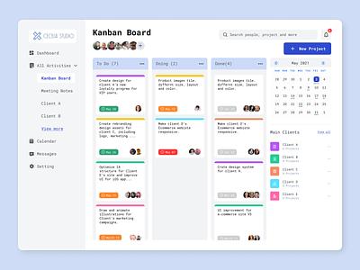 Project Management platform dashboard ui web design uxuidesign project management tool to do list
