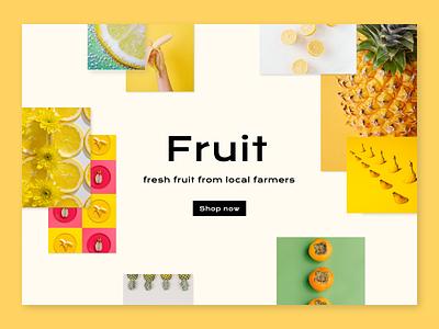 Fruit E-commerce Landing Page landing page uxuidesign web design ecommerce shop fruit