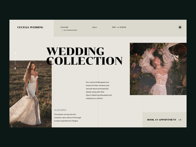 Wedding Site Design landing design web design uxuidesign clothing design wedding design