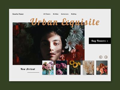 Florist E-commerce Site Landing Page florist website landing page ui web design ecommerce design flower shop