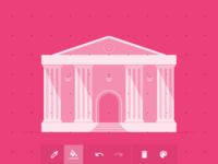 Pink Building - made with Geomme