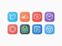 Monoweight Icons