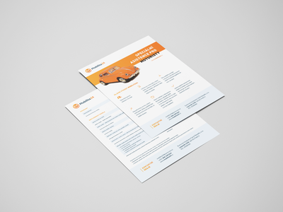Car insurance flyer design car orange leaflet flyer