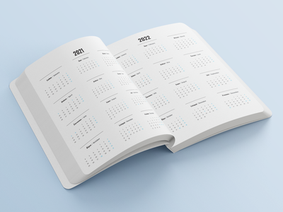 Modern Minimalism Diary 2021 Page Typography branding minimalism typography modern graphics design page diary book
