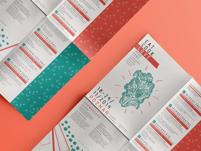 Vege Fesival Leaflet Design (Eat, Cook, Love)
