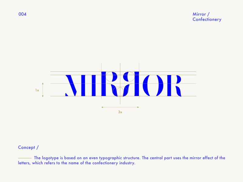 Mirror Confectionery logotype / Logofolio