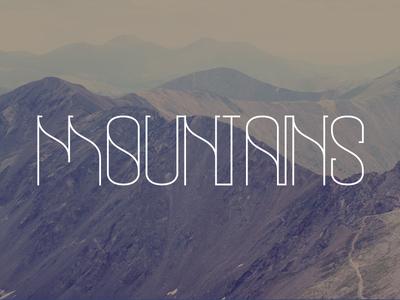 Mountain Typography  landscape typography mountain