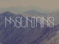 Mountain Typography