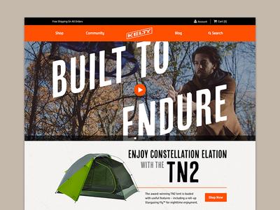 New Kelty Website ecommerce website branding refresh kelty camping tents sleepingbags backpacks