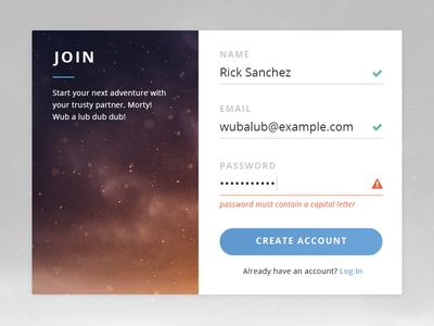 DailyUI #001 - Sign Up Screen up sign login day001 app uiux dailyui design