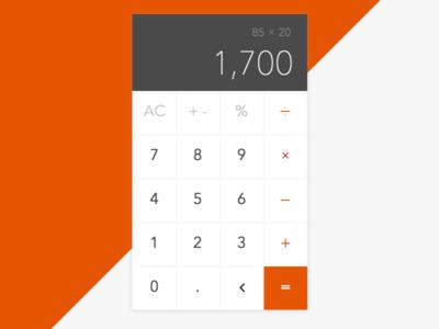Calculator - Daily UI #004 minimal daily calculator 004 ui dailyui