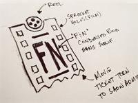 FilmNotice - Logo Concept Sketch