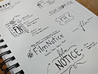 FilmNotice - Logo Sketches