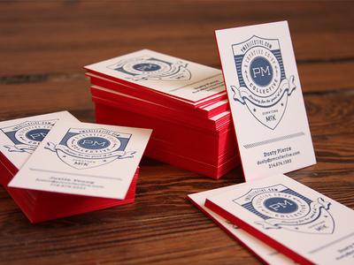 Letter-pressed Cards 220LB