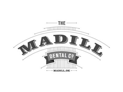 Madill Dental 2 logo typography vintage dental