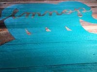 LMNOP wood signage