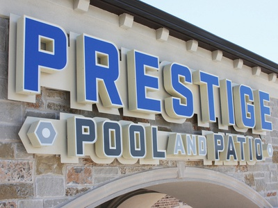 Prestige Pool and Patio Sign