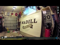 Time Lapse of Sign Painting: Madill Dental Co.