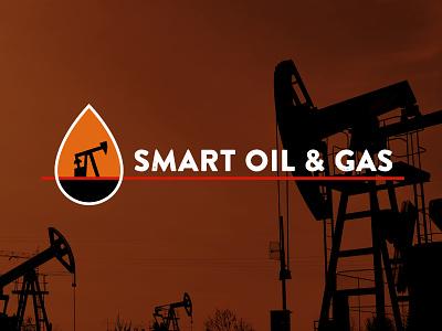 Smart Oil & Gas Logo pumping unit well rig drilling oil pump identity branding logo