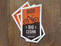 Stickers for Big Cedar MTB Trail