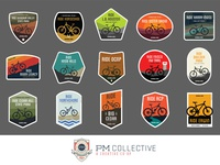 Mountain Bike Stickers (Family Shot)