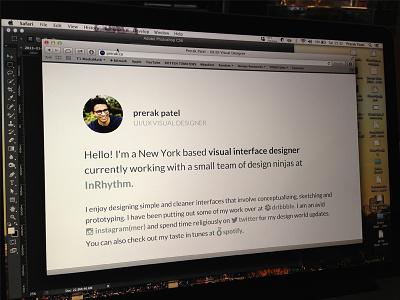 New site - Prerak.co website minimal ui typography design visual ux