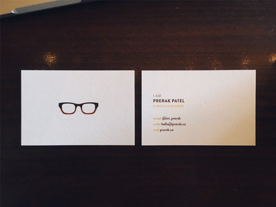 Prerak Patel - Business Cards branding typography french paper card business card