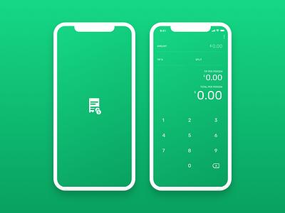 Tippy – Tip Calculator app mobile splash brand ui vector tip sketch logo illustrator calculator