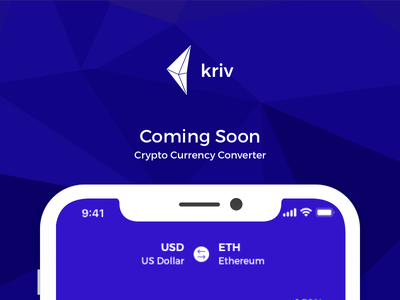 Kriv - Crypto/Fiat Currency Converter soon launch currency illustrator sketch ui app mobile logo brand