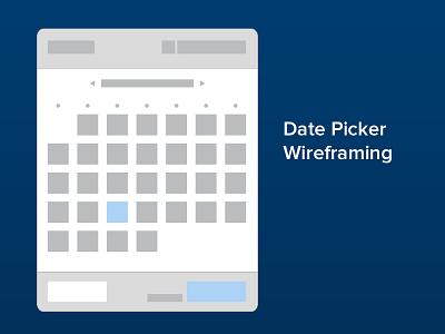 Date Picker / Calendar Wireframe wireframe ui interface calendar design
