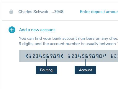 Add new accounts financials accounts banking